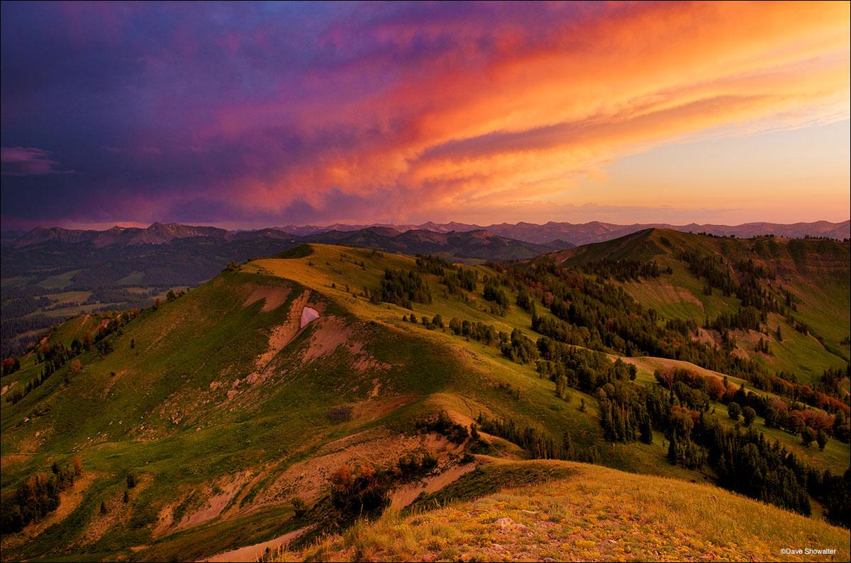 Wyoming Range Stormy Sunset  BridgerTeton national