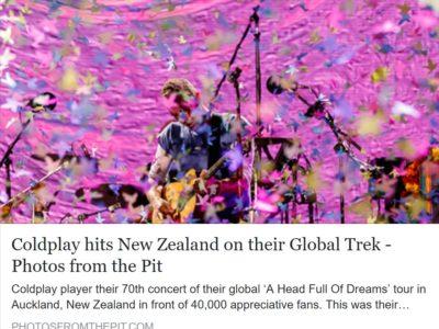 Coldplay Live at Mt Smart Stadium, Auckland 3 December 2016
