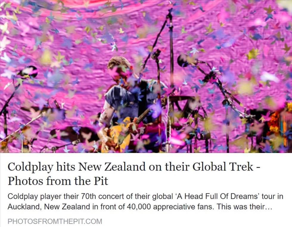Coldplay live at Mnt Smart Stadium, Auckland, New Zealand