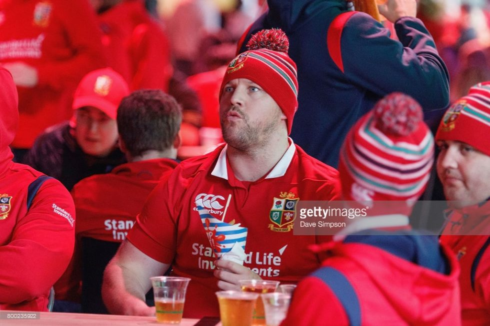 Lions vs All Black Rugby Fans