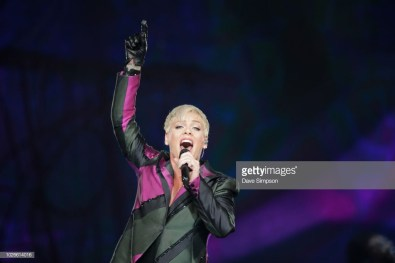 AUCKLAND, NEW ZEALAND - SEPTEMBER 04: Pink peforms at Spark Arena on September 4, 2018 in Auckland, New Zealand. (Photo by Dave Simpson/WireImage)