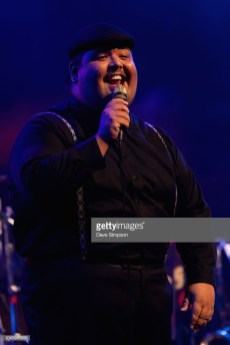 AUCKLAND, NEW ZEALAND - OCTOBER 05: Mario Jose of the American band Scott Bradlee's Postmodern Jukebox performs on stage at Auckland Town Hall on October 5, 2018 in Auckland, New Zealand. (Photo by Dave Simpson/WireImage)