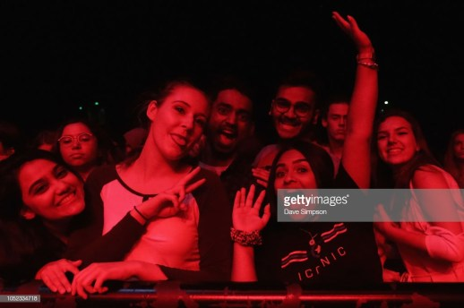 AUCKLAND, NEW ZEALAND - OCTOBER 17: Fans watch Frank Walker open for Kygo during his 'Kids In Love' tour at Spark Arena on October 17, 2018 in Auckland, New Zealand. (Photo by Dave Simpson/WireImage)