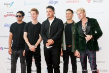 AUCKLAND, NEW ZEALAND - NOVEMBER 15: Six60 arrive for the 2018 Vodafone New Zealand Music Awards at Spark Arena on November 15, 2018 in Auckland, New Zealand. (Photo by Dave Simpson/WireImage)