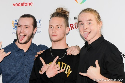 AUCKLAND, NEW ZEALAND - NOVEMBER 15: Alien Weaponry arrive for the 2018 Vodafone New Zealand Music Awards at Spark Arena on November 15, 2018 in Auckland, New Zealand. (Photo by Dave Simpson/WireImage)