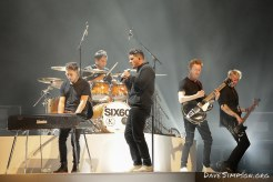 AUCKLAND, NEW ZEALAND - NOVEMBER 15: Marlon Gerbes (keyboards), Eli Paewai (drums), Matiu Walters (vocals), Ji Fraser (lead guitar) and Chris Mac (bass) of Six60 perform on stage during the 2018 Vodafone New Zealand Music Awards at Spark Arena on November 15, 2018 in Auckland, New Zealand. (Photo by Dave Simpson/WireImage)