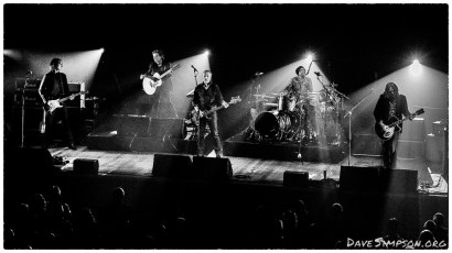 AUCKLAND, NEW ZEALAND - DECEMBER 04: Peter Koppes, Steve Kilbey, Tim Powles and Ian Haug from The Church perform on stage as part of the Starfish 30th Anniversary Tour at Auckland Town Hall on December 4, 2018 in Auckland, New Zealand. (Photo by Dave Simpson/WireImage)