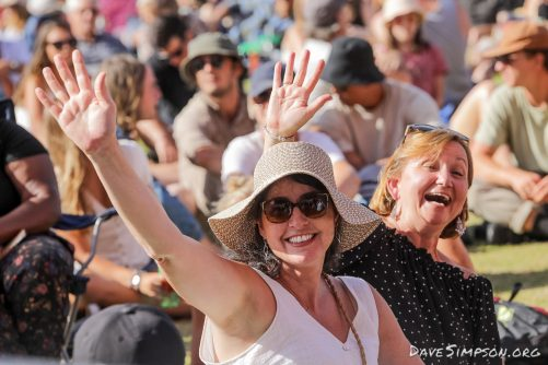 AUCKLAND, NEW ZEALAND - JANUARY 12: Fans enjoy the atmosphere Mumford & Sons' The Gentlemen of the Road tour at The Outer Fields at Western Springs on January 12, 2019 in Auckland, New Zealand. (Photo by Dave Simpson/WireImage)