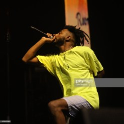 AUCKLAND, NEW ZEALAND - JANUARY 09: Aminé performs on stage during FOMO By Night Festival at Spark Arena on January 9, 2019 in Auckland, New Zealand. (Photo by Dave Simpson/Getty Images)