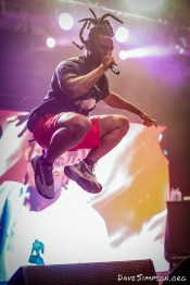 AUCKLAND, NEW ZEALAND - JANUARY 28: Denzel Curry performs on stage at St Jerome's Laneway Festival on January 28, 2019 in Auckland, New Zealand. (Photo by Dave Simpson/WireImage)