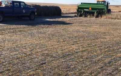 Re-planting CRP in Winter frozen ground