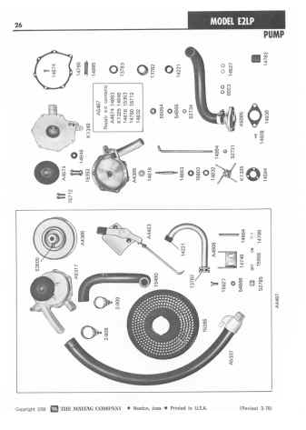 Maytag E2 Wringer Washer Parts Manual