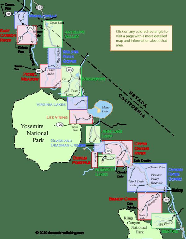 Eastern Sierra Fishing Maps Daves Sierra Fishing