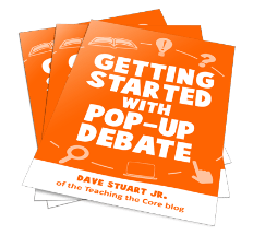 "Pop-up debate is something many of you are aware of through my $1 ""starter kit."""