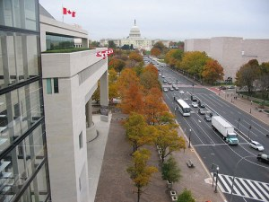 The Canadian Embassy on Pennsylvania Avenue in Washington DC