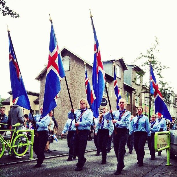 Happy 69th Birthday, #Iceland! Yesterday's parade.