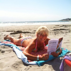 "Reader photo! It's @yogadebbie reading her copy of ""Big Apple, Black Sand and the Midnight Sun."" Take a pic and tag me! #BABSMS #books #rhodeisland"