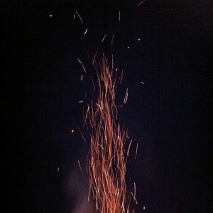 Embers like fireworks