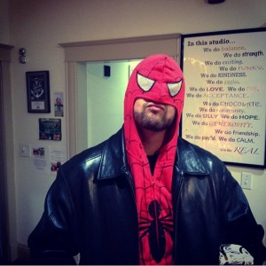 I got a Spider-Man hoodie for Christmas. Thanks @tvyogagirl @yogadebbie @laughingelephantyogausa!