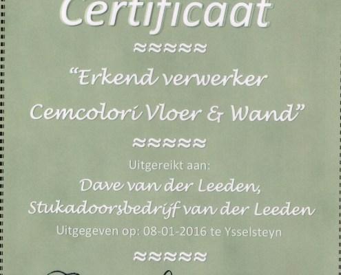 Stukadoorsbedrijf Dave van der Leeden