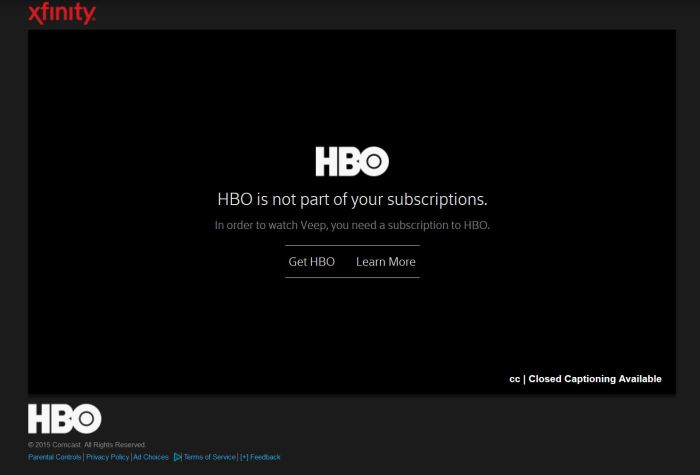 HBO access