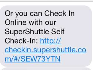 SuperShuttle Self Check-In