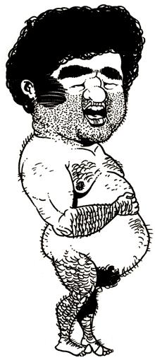Nude Model: The Dribbler