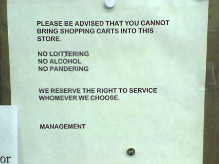 No Loittering