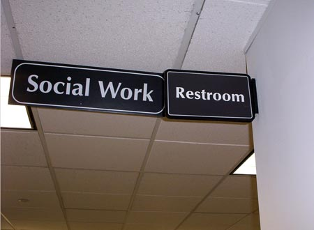 I do my social work there, too