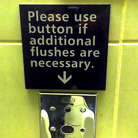 Additional flushes