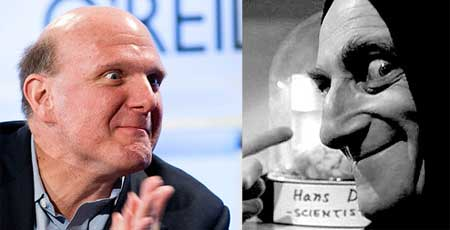 Separated at birth? Steve Ballmer and Marty Feldman