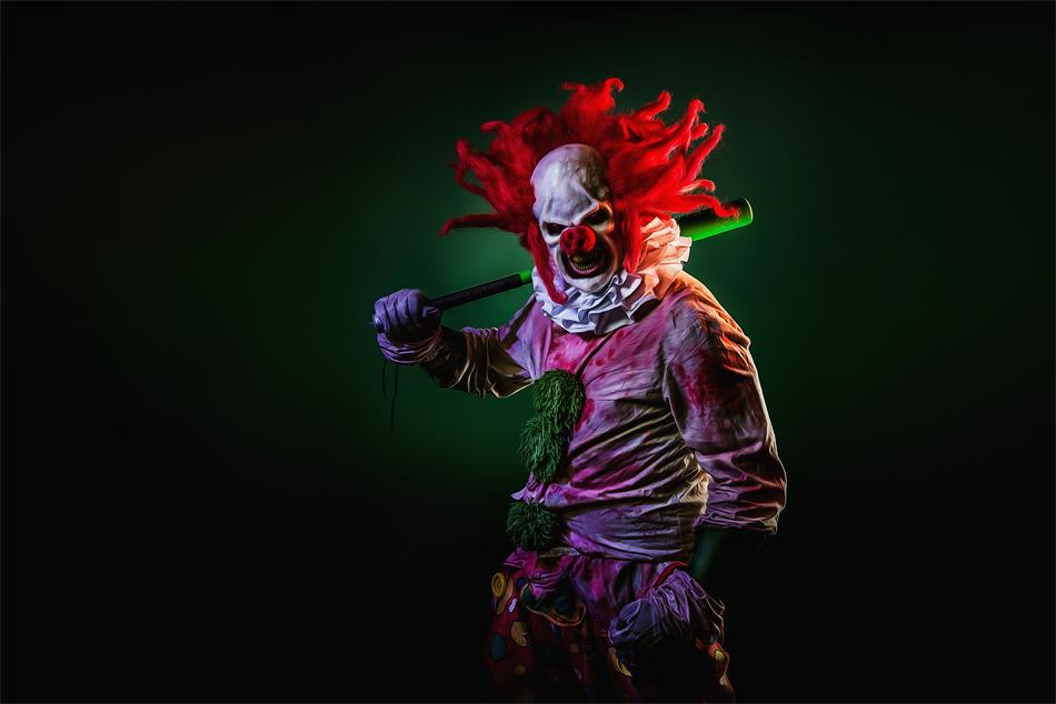 Horror Clown im Studio  David Hallwas  Fotografie  PaarFotos  People  Hochzeitsfotograf