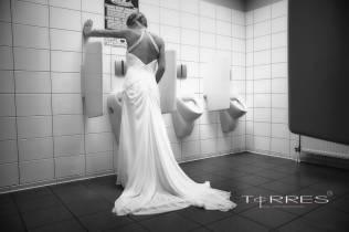 Sexy Bruid leuke trouwfoto