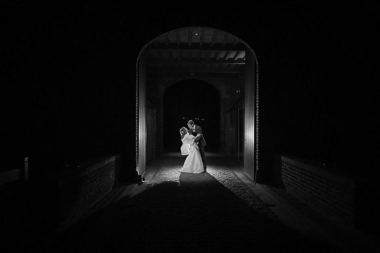 Fotoshoot trouwkoppel avond