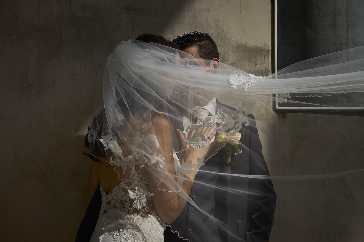 Romantische trouwfoto