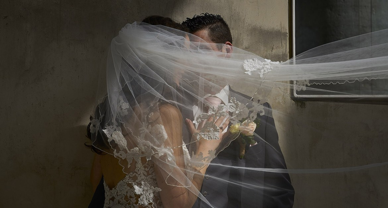 romantische trouwfoto's