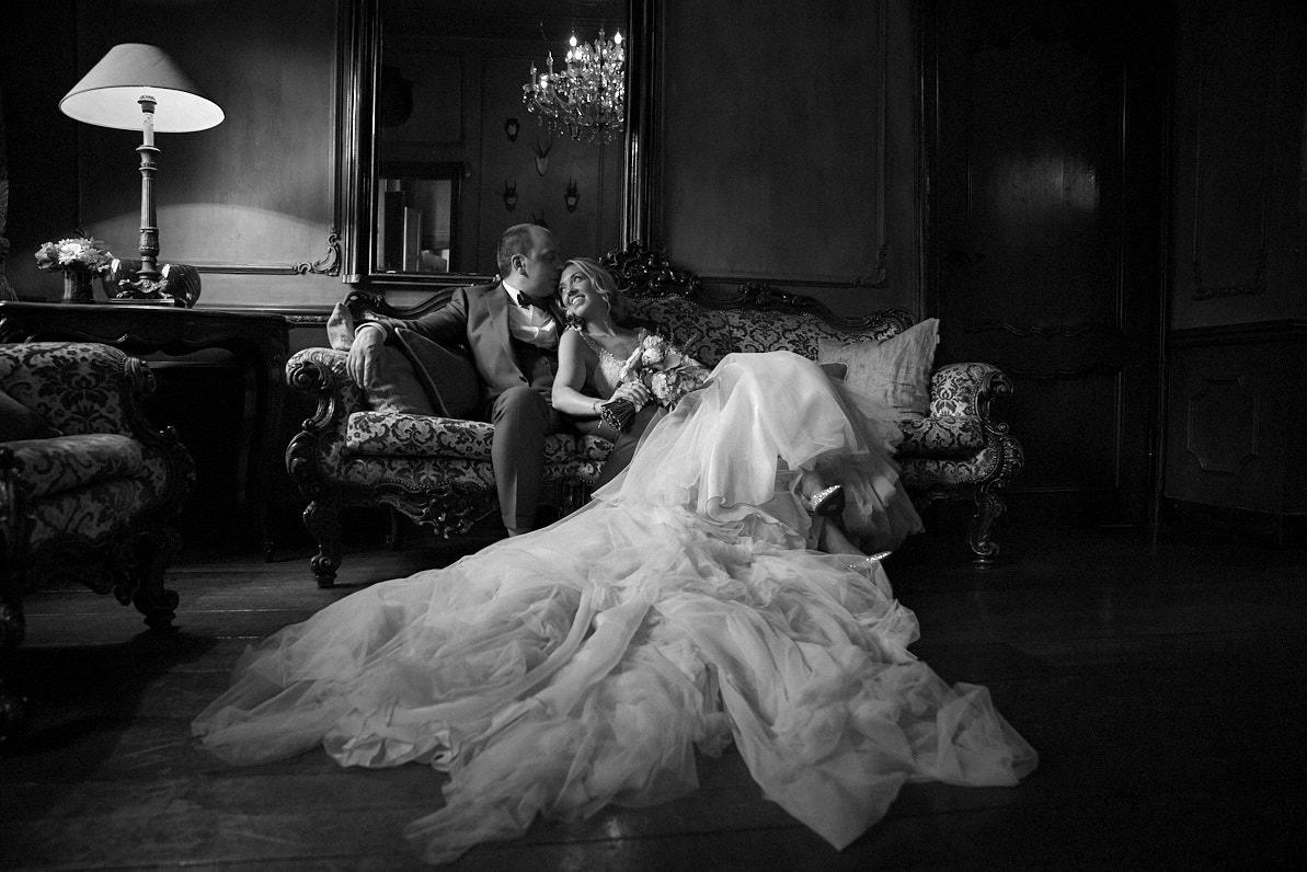 zwart wit huwelijks fotograaf