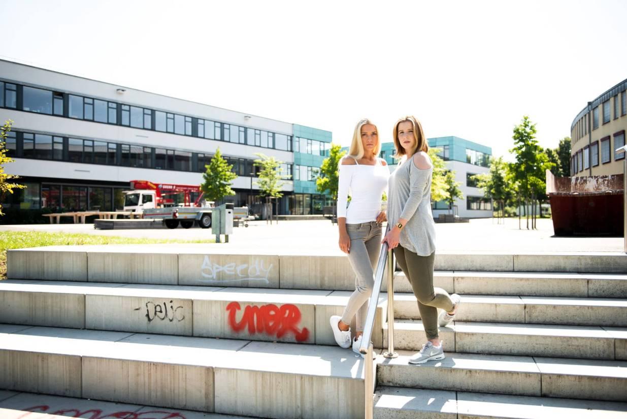 Jil and Rebecca at Friedrich-Dessauer-Gymnasium Aschaffenburg