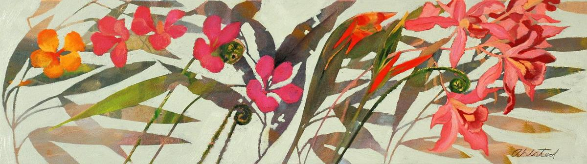 """David Ahlsted - """"A Simple Spring"""", Oil on panel, 10 x 36"""""""