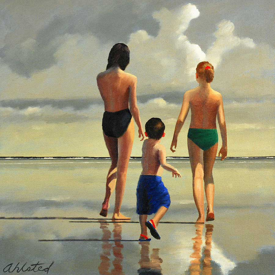 """David Ahlsted - """"Jersey Shore # 11"""", Oil on Canvas, 24 x 24"""""""