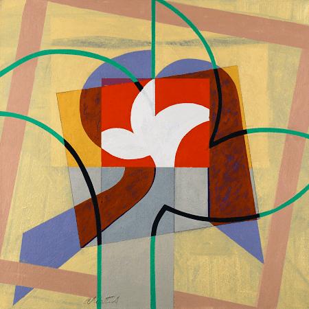 """Parade VI"", oil on canvas, 36 x 36""."