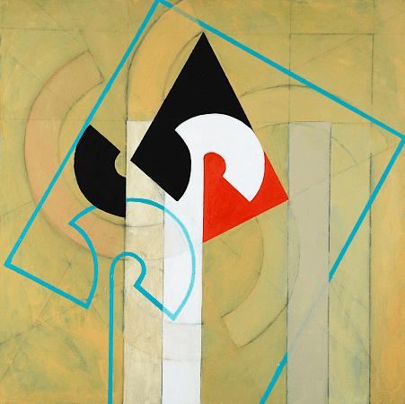 """""""Signal"""", oil on canvas, 36 x 36""""."""