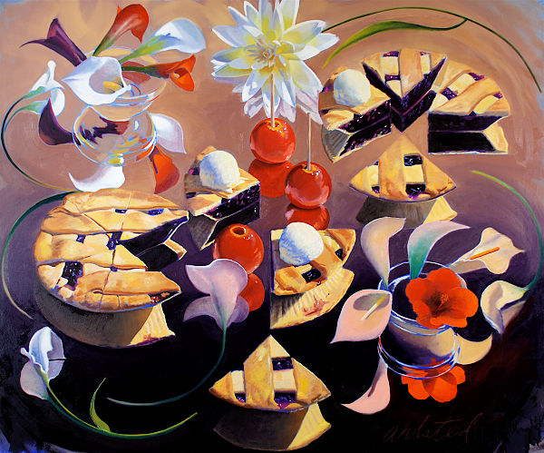 "David Ahlsted - ""Blueberry Pie"", Oil on canvas, 60 x 72"""