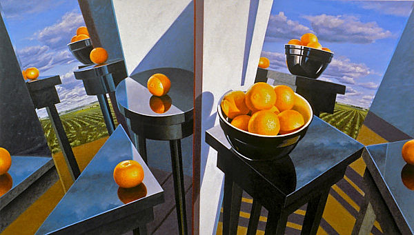"""David Ahlsted - """"Northern Plains, Southern Spheres"""", Oil on Canvas, 48 x 84"""" - SOLD"""