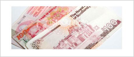 100 pound notes