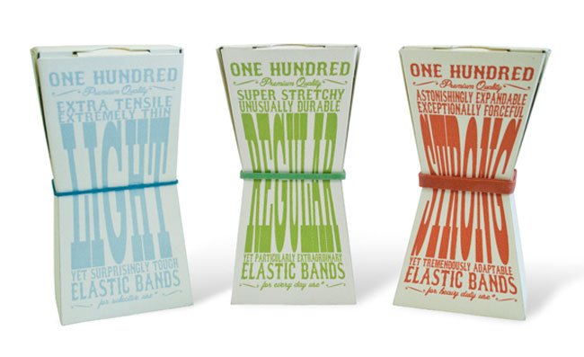 Elastic band packaging