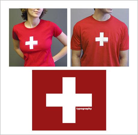 swiss typography tshirt