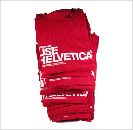 use helvetica tshirt