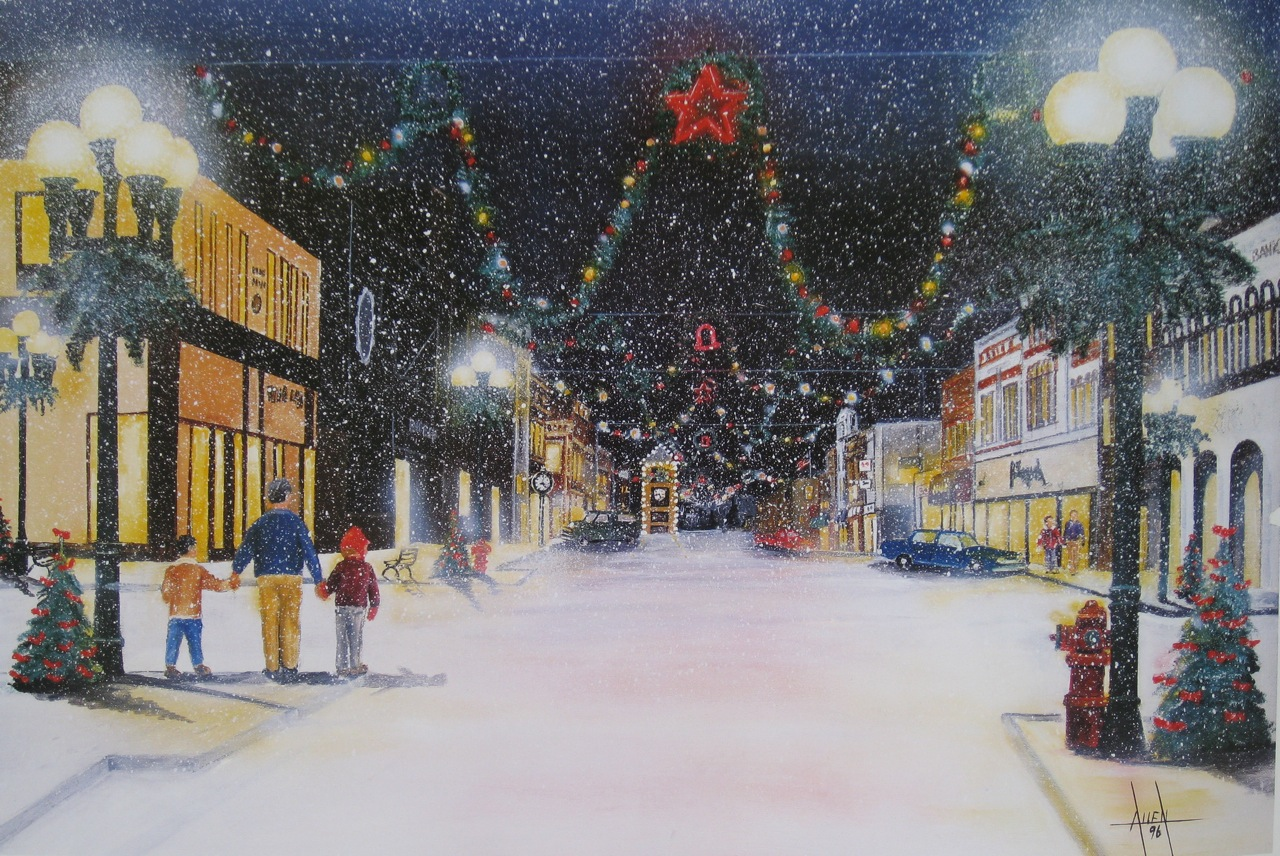 New Ulm Christmas Town David Allen Art