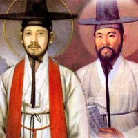 St.Andrew Kim, the first Korean Catholic priest, martyred at the age of 25, and St.Paul Chong